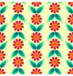 Seamless floral pattern with leaves and flowers vector