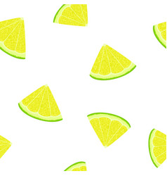 seamless pattern with a slice of lemon vector image