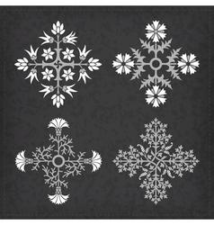 Set of decorative ornament elements vector