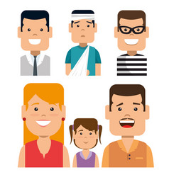 set of people involve insurance services vector image