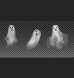 Set realistic ghosts 3d smokes looking vector