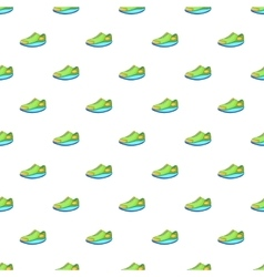 Sneakers pattern cartoon style vector
