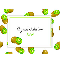 square label kiwi jam vector image