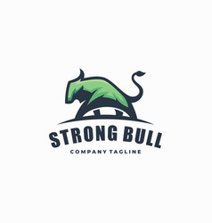 strong bull color template vector image