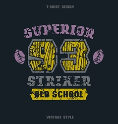 Superior striker emblem vector image