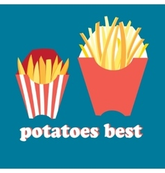 Tasty French fries vector image