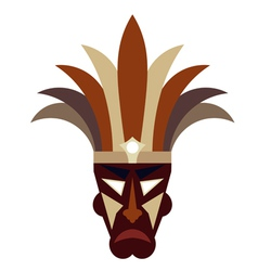 Tribal mask on a white background vector