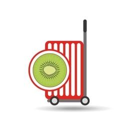 trolley shop juicy kiwi fruit vector image