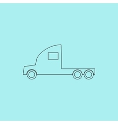 Truck without a trailer vector