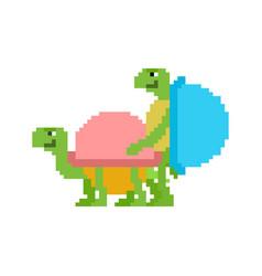 Turtle sex pixel art tortoise intercourse 8 bit vector