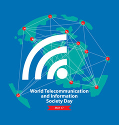 World telecommunication and information society da vector