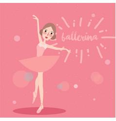 ballerina little girl wearing ballet tutu dress vector image
