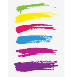 Brush strokes on white vector image