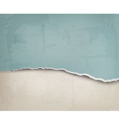 Old background with ripped paper and old wall vector image vector image