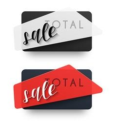 The total sales emblem sale black label vector