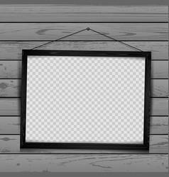 wooden black frame wood background vector image vector image