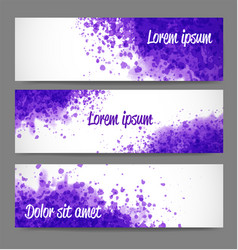 banners with bright grunge splashes on realistic vector image vector image