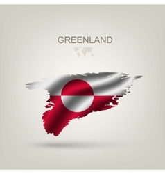 Flag of Greenland as a country vector image vector image
