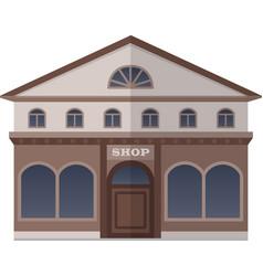 flat design shop vector image