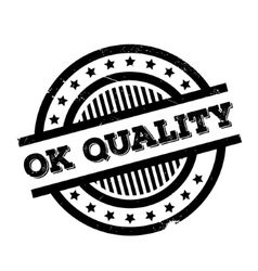 Ok Quality rubber stamp vector image