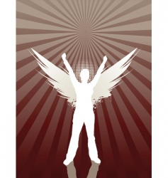 angel girl vector image vector image