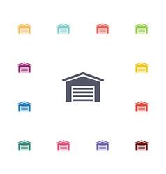 car garage flat icons set vector image