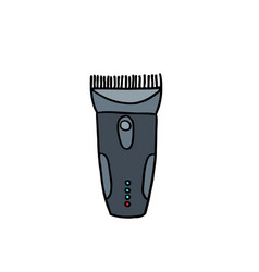 clippers hair doodle icon vector image vector image