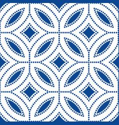 dark blue flower pattern beads background vector image vector image