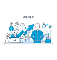 leadership skills career success and education vector image vector image