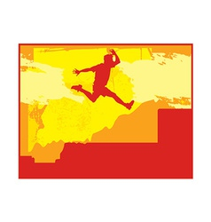 Person jumping vector