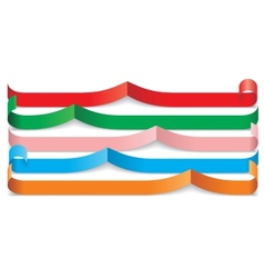 Set of different paper ribbons vector image