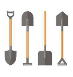 shovel set on white background vector image vector image