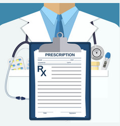 Background of white doctors suit vector