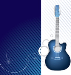 blue guitar design graphic vector image