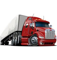 cartoon semi truck vector image vector image