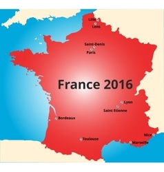 Cities of France euro 2016 vector image