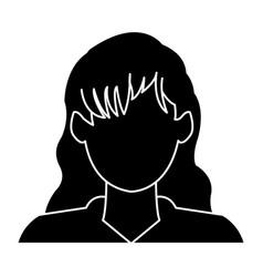 Profile avatar user icon - woman female people vector