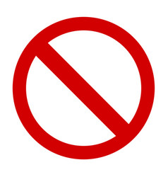 prohibition sign or no sign icon simple vector image
