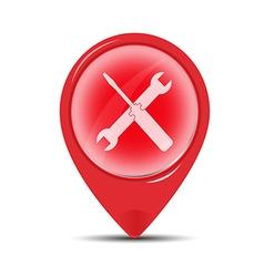 red Service symbol vector image vector image
