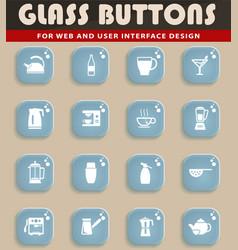 utensils for the preparation of beverages vector image