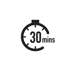 30 minutes timer stopwatch or countdown icon time vector