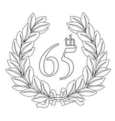65th laurel wreath vector image