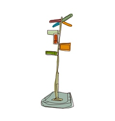 A guidepost stand on vector image