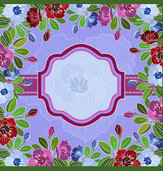 abstract floral frame with banner vector image