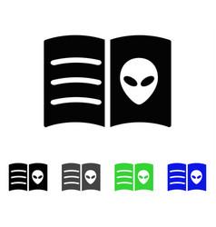 Alien face book flat icon vector