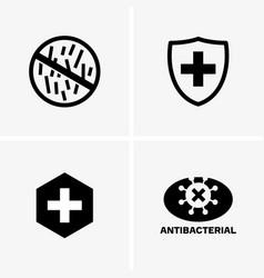 Antibacterial signs vector