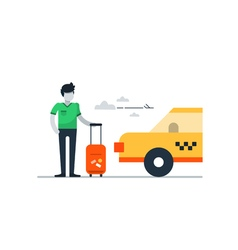 Arrival at airport pick up passenger vector