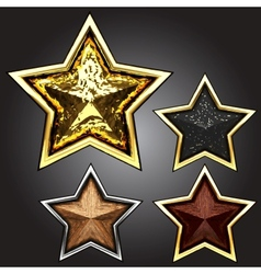 award star set vector image