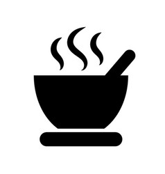 black soup icon on a white background vector image