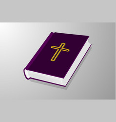 Book with cross vector